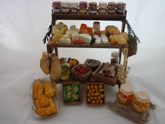 Delicatessen market stand fruit miniature food