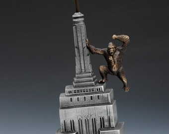 King Kong Coin Bank, Cast Aluminum and Cast Bronze, for Table or Desk