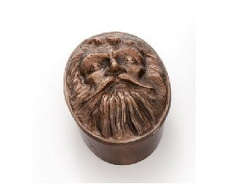 "Male Face Box , Bronze Box 5"" long x 2"" high"