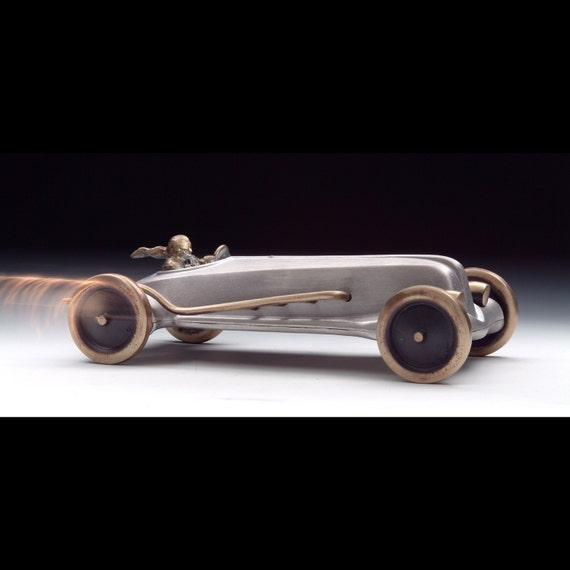 Land Speed Racer Cast Aluminum and Cast Bronze Heavy Metal