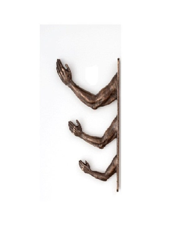 Arm Hooks in Bronze - Three together