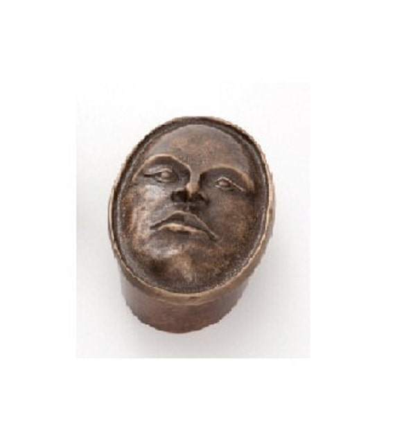 "Female Face Box , Bronze Box 5"" long x 2"" high"