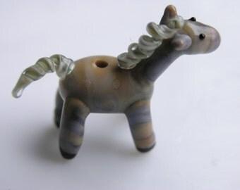 Horse Bead or fairy garden accessory, MTO, lampwork horse bead
