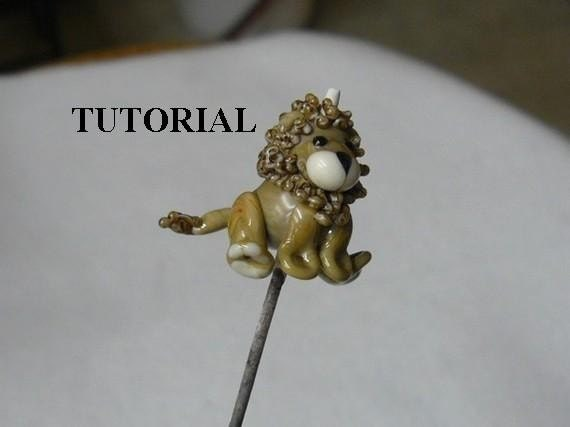 Tutorial  LION  lampwork bead