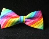 de Colores Rainbow Bow Tie for Men Adjustable Neckband PretiedBowtie New Handcrafted Gustys