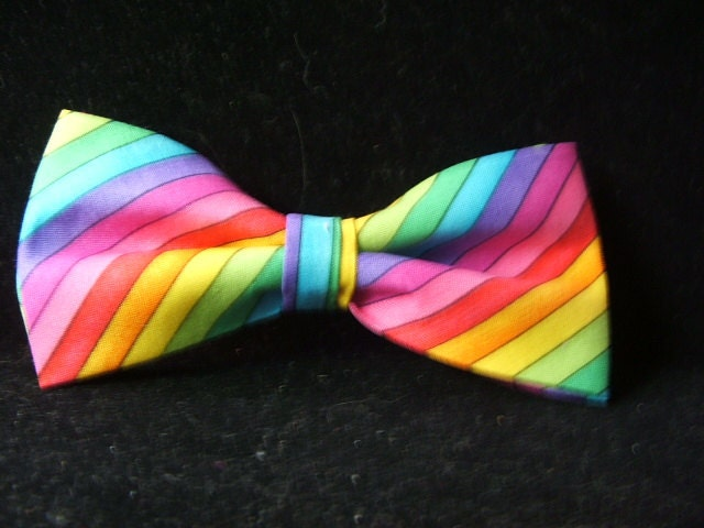 De Colores Rainbow Bow Tie For Men Adjustable Neckband By