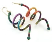 Colorful Coil Earrings
