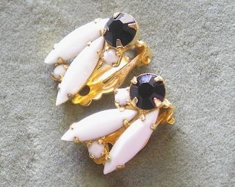 Vintage Black and White Earrings