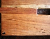 Custom Two Handled Center Cut Cutting Board -- Angled Design -- MADE TO ORDER -- You Pick Wood Combinations