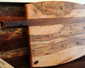 Custom Curved Design One Handle Cutting Board -- MADE TO ORDER -- You Pick Wood Combinations