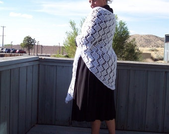 Silver Lining Triangle Shawl with Diamond Pattern