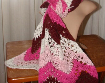 Pink Paradise    100 Percent Cashmere Scarf