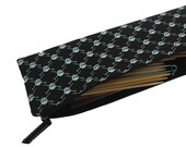 knitting needle storage case pouch  Jolly Roger print