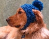 PDF Crochet Pattern for Poofball Dog Hat Digital File Download
