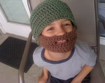 Green Childrens Bearded Beanie - Ships Free