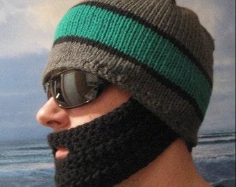 Striped Bearded Beanie - Ships Free