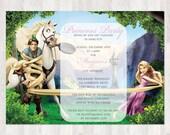 Disney Tangled Birthday Invitation
