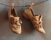 RESERVED for ELECTRIC WARRIORS : Brown Suede Tie Wrap Pumps, size 8