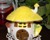 MUSHROOM TOAD HOME Ceramic Fairy or Gnome House