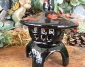 Pagoda   Garden Statue Japanese Light - hand Painted Ceramic