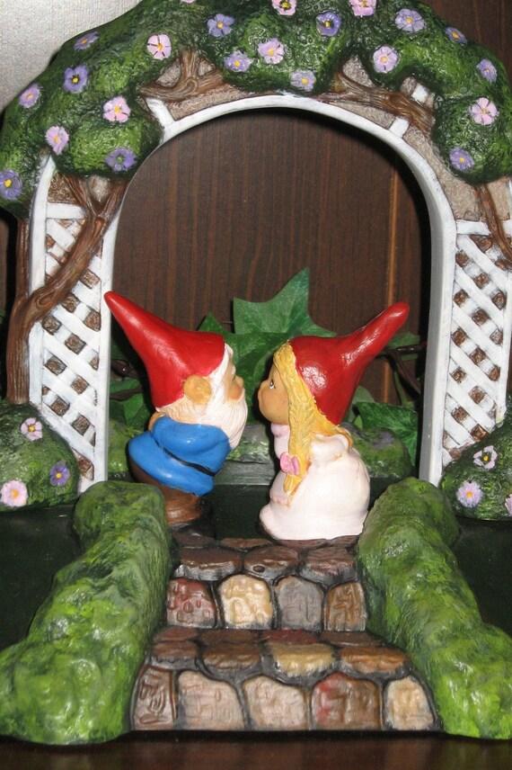 Garden Gnome Wedding Cake Toppers