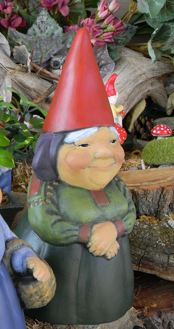Garden Gnome Give A Lady Gnome A Home By Enchantdmushroomland