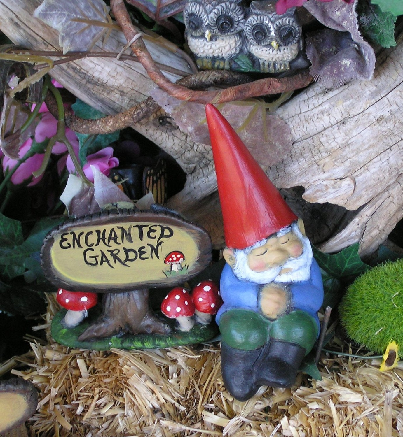 Enchanted Garden Sign ....... Miniature Fairy Garden Decor