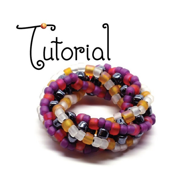 TUTORIAL -- Twisted Cubic Right Angle Weave Doughnuts and Bracelets