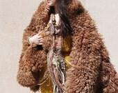 SALE - Tea Dyed Buffalo Skin. Wear as Cape, or Use as Rug.