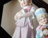 Old Antique German & English Bisque Girls Figures