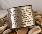 Leather cuff braclet, you are my sunshine, my only sunshine, 2 inch cuff