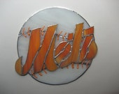 NY Mets Stained Glass Plaque