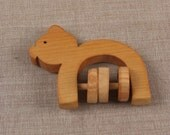 Wooden Toy Rattle Pig