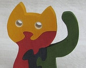Wooden Toy Cat Puzzle