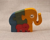 Wooden Toy Elephant Puzzle