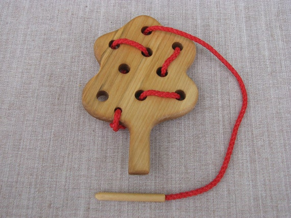 Wooden Lacing Toy Tree