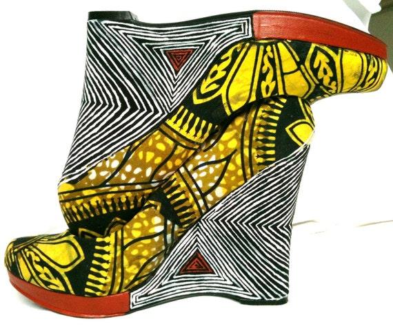 African Fabric Shoe Mopani