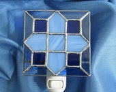 Blue Skies Stained Glass Night Light