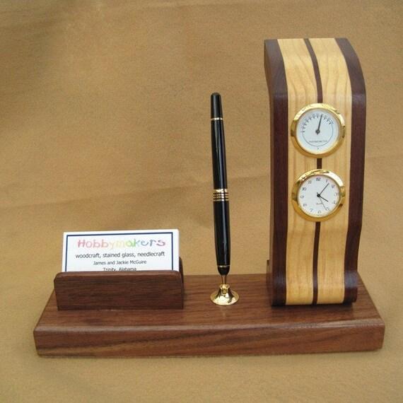 OOAK Zebra Desk Set Clock