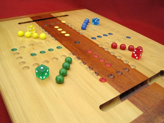 OOAK Woodcrafted Aggravation/Wahoo Game Board
