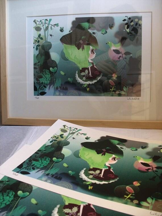GREEN BIRD limited edition print