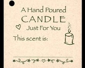 100 CANDLE SCENT Hang Tags -100 Ecru Strings Included -  Price Tags
