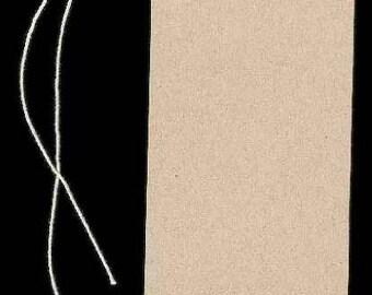 "300 Lg BLANK KRAFT Hang Tags & Strings. Size 2-1/8"" x 3-5/8"