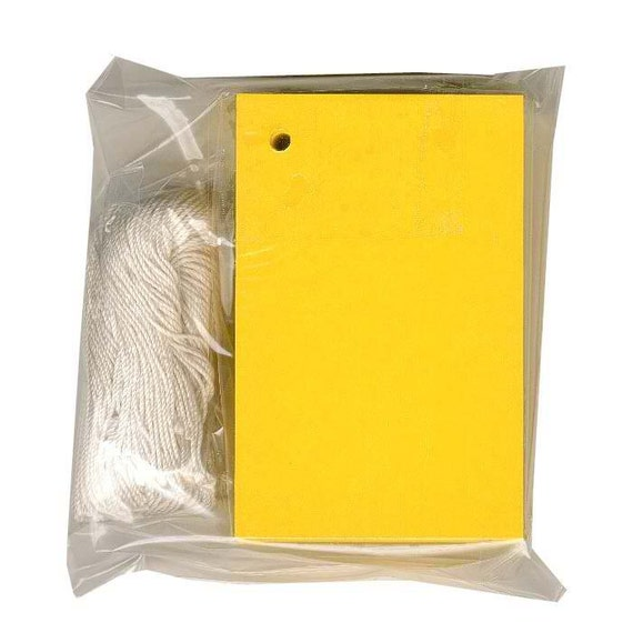 """100 BLANK YELLOW Hang Tags. Size 2-1/8"""" x 3-1/4"""""""