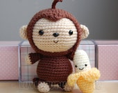 Monkey Gurumi Crochet Pattern