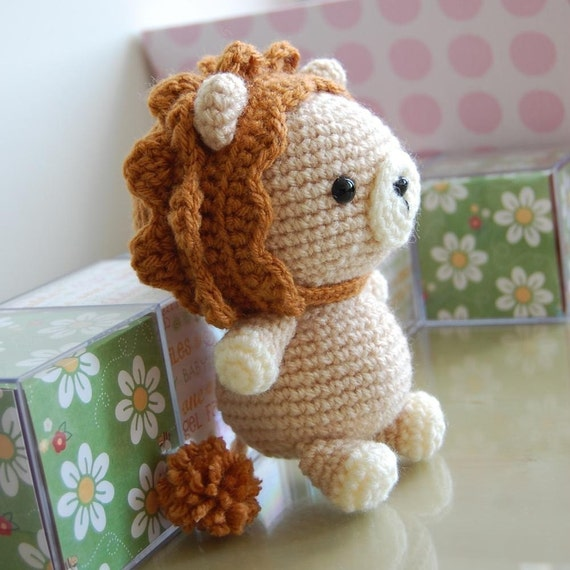 Little Amigurumi Lion : Lion Gurumi Crochet Pattern by LuvlyGurumi on Etsy