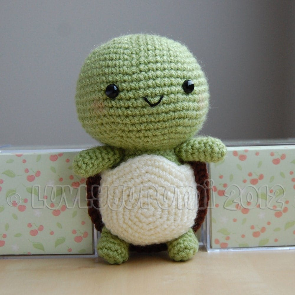 Crochet Patterns Turtle : Turtle Gurumi Crochet Pattern by LuvlyGurumi on Etsy