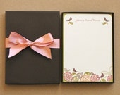 Personalized Stationery Gift Set of 12 5x7 Flat Notes and Envelopes