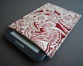 Nook Tablet Case / Nook Glowlight Plus / Kindle Paperwhite Sleeve / Kindle 7 Cover / Kobo Glow HD - Burgundy Paisley