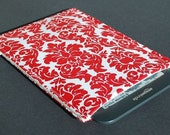 Nook Glowlight Plus Case / Nook Glowlight Plus Sleeve / Nook Glowlight Plus Cover - Damask Red